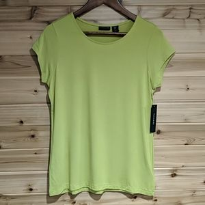 Tahari Chartreuse Tee Shirt Medium